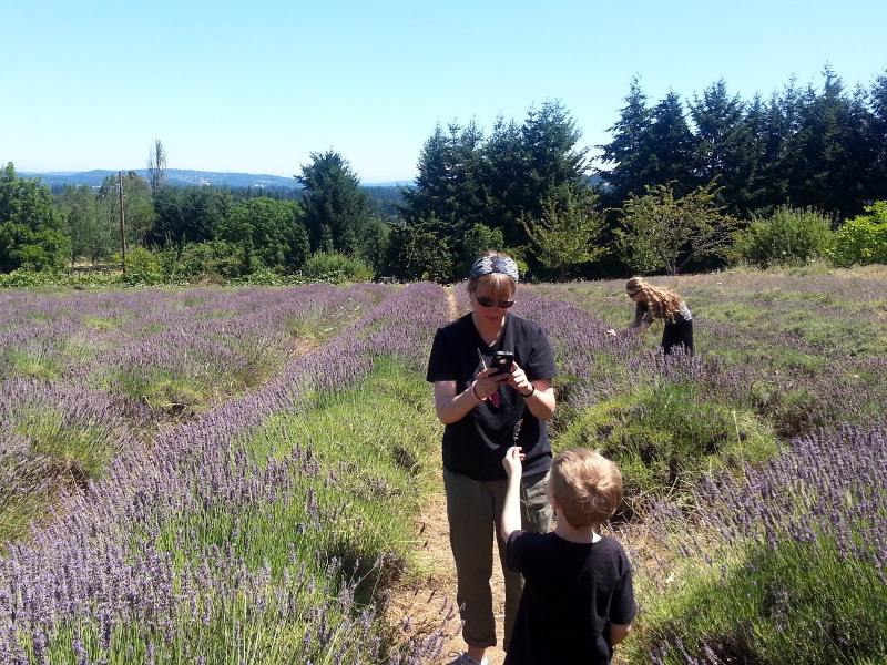 Auntie Marta and Brock discuss the economics of growing lavender.