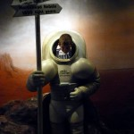 Picture of Davison in space suit