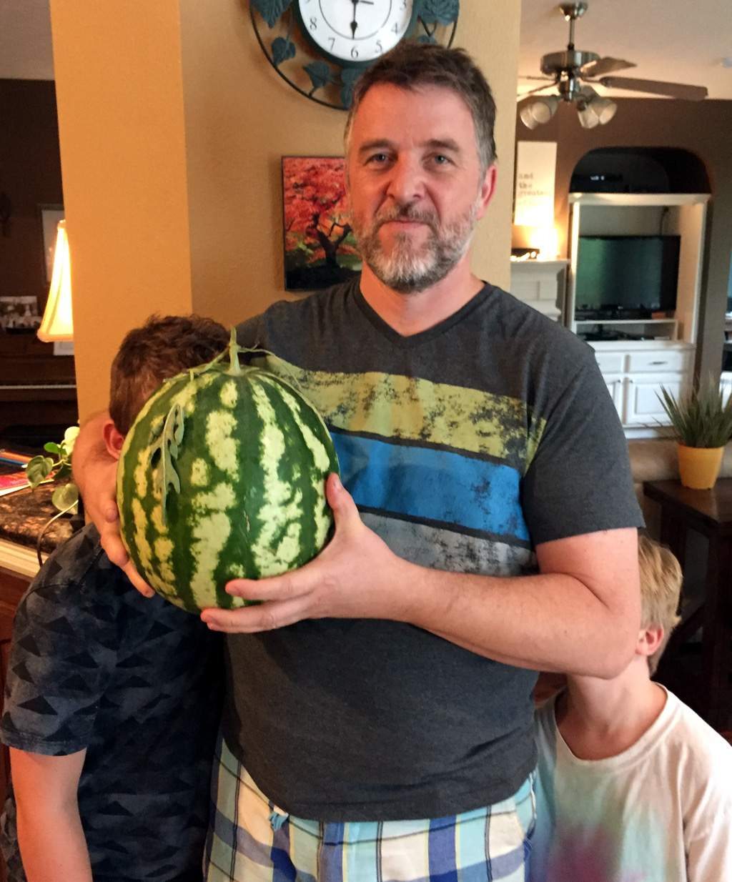Dad, Watermelon, Davison and Brock